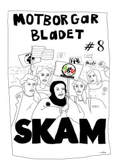 Bidrag till Motborgarbladet nr.8 SKAM illustrerad av Arwen Meereboer